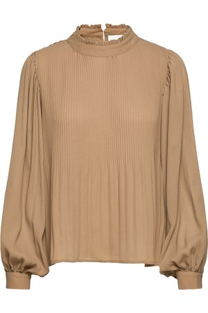 My Essential Wardrobe Mwadele Blouse Bluse Langermet Brun