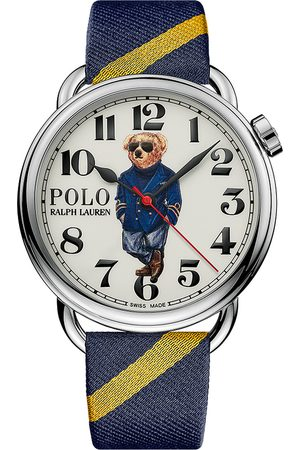 Polo Ralph Lauren 42mm Automatic Nautical Bear White Dial