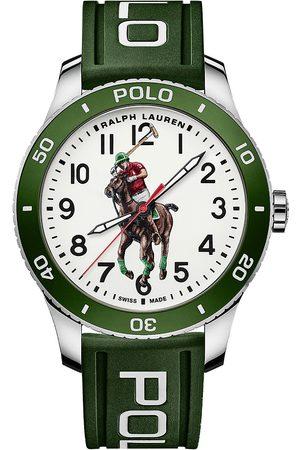 Polo Ralph Lauren Herre Klokker - 42mm Automatic Pony Player White Dial/Green Bezel