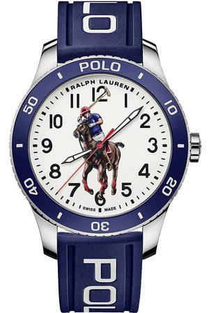 Polo Ralph Lauren 42mm Automatic Pony Player White Dial/Blue Bezel