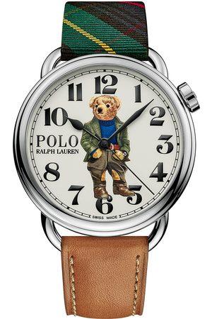 Polo Ralph Lauren Herre Klokker - 42mm Automatic Bedbord Bear White Dial