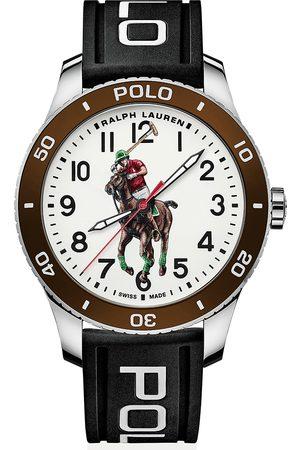 Polo Ralph Lauren Herre Klokker - 42mm Automatic Pony Player White Dial/Brown Bezel