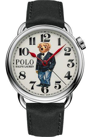 Polo Ralph Lauren Herre Klokker - 42mm Automatic Denim Tux Bear White Dial