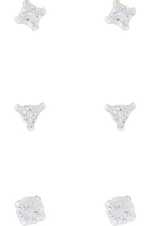Accessorize Øreringer - 3X Sparkle Shape Sterling Earrings