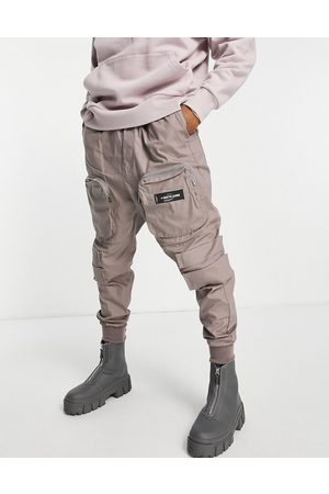 Sixth June Font zip cargo trousers in -Neutral