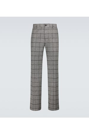 Dolce & Gabbana Chinos - Wool-blend checked pants