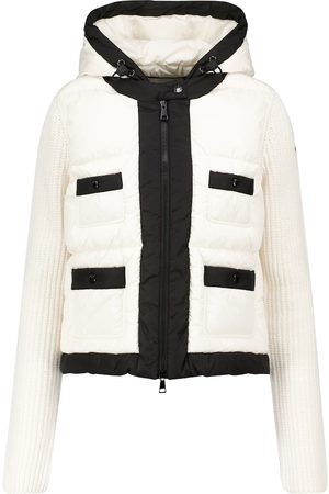 Moncler Ribbed-knit and quilted down jacket