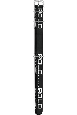 Polo Ralph Lauren Herre Klokker - Sporting Leather Strap Black/White