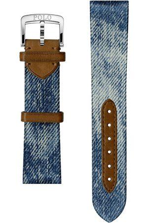 Polo Ralph Lauren Herre Klokker - Sporting Denim Strap Blue