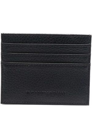 Emporio Armani Logo-lettering leather cardholder