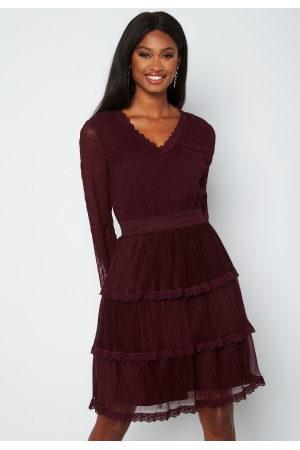 Happy Holly Dame Midikjoler - Alice Lace Dress Dark wine-red 32/34