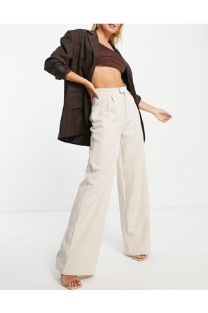 Public Desire Tailored high waist trouser co ord in cream-Neutral