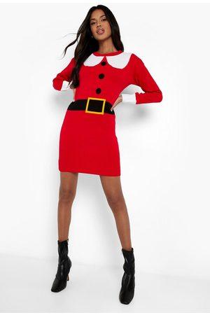 Boohoo Dame Festkjoler - Mrs Claus Christmas Jumper Dress
