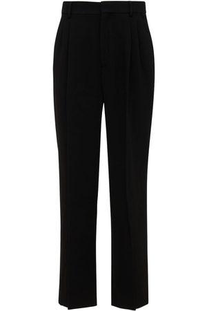 Casablanca Pleated Wide Wool Pants