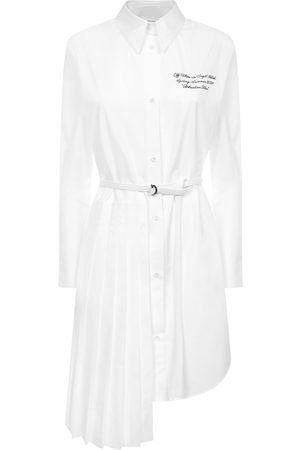 OFF-WHITE Shirt dress with pleated panel