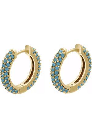 7 days Dame Øreringer - Hoop turquoise earrings