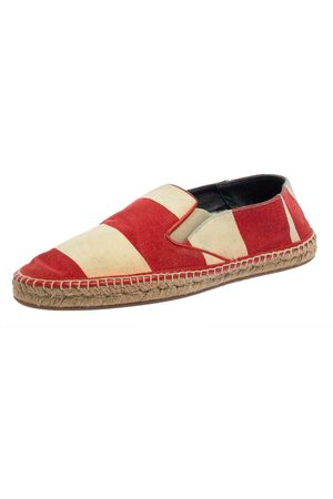 Burberry Brukte Striped Canvas Hodgeson Espadrille Loafers