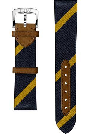 Polo Ralph Lauren Herre Klokker - Sporting Silk Strap Navy/Gold