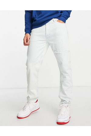 Tommy Hilfiger Dad regular tapered fit repurposed jeans in light wash-Blue