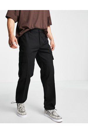 Topman Wide leg cargo trousers in black