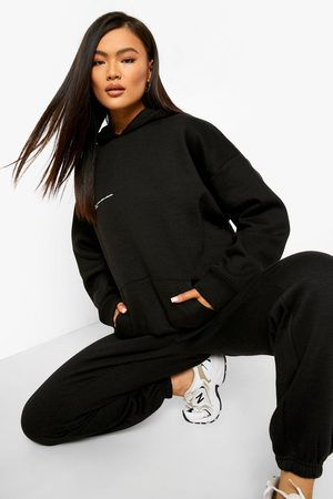 Boohoo Official Text Hooded Tracksuit