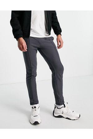 JACK & JONES Herre Joggebukser - Intelligence textured skinny fit joggers in grey