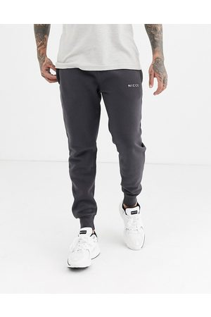 Nicce London Joggers with logo in charcoal-Grey