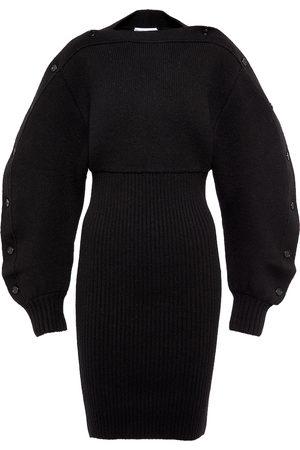 Bottega Veneta Ribbed-knit wool minidress