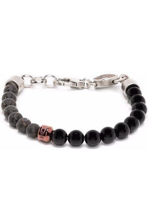Diesel Logo-charm beaded bracelet