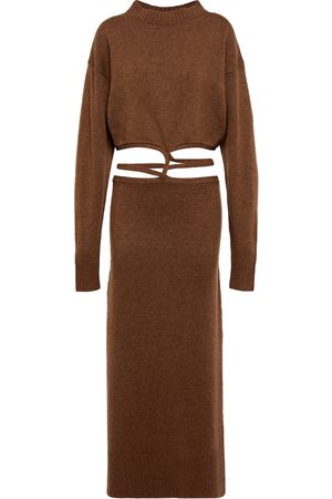 CHRISTOPHER ESBER Cutout wool and cashmere maxi dress