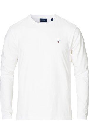 GANT Herre T-skjorter - The Original Long Sleeve Tee White