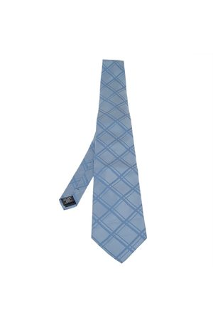 Dunhill Pre-owned Herre Slips - Check Patterned Traditional Silk Tie