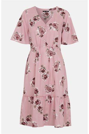 Happy Holly Dame Mønstrede kjoler - Mønstret viskosekjole Eliza