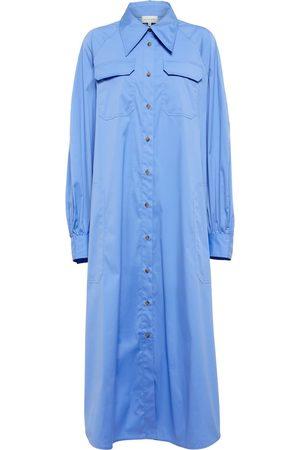 Lee Mathews Cotton-bled shirt dress