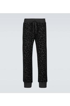 Dolce & Gabbana Herre Joggebukser - Leopard-print cotton sweatpants