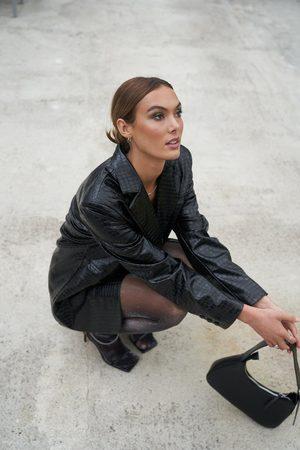 NA-KD Dame Blazere - Oversized reptile blazer
