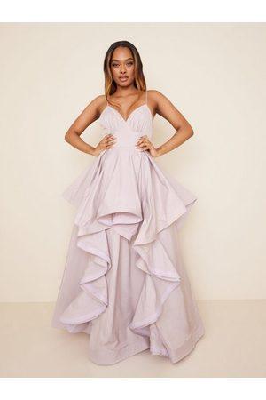 True Decadence Dame Maxikjoler - High Low Flounce Maxi Dress Pale Mauve