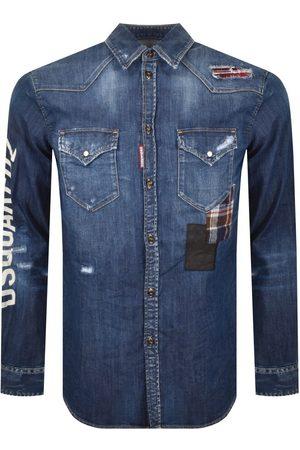 Dsquared2 Herre Denim - Patch Dan Denim Shirt