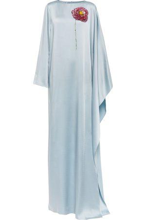 Oscar de la Renta Embellished satin gown