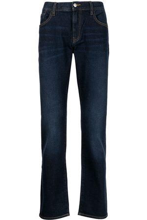 Armani Exchange Herre Straight - Dark-wash straight-leg jeans