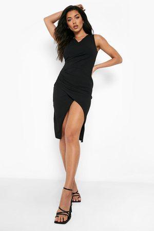 Boohoo Dame Bodycon kjoler - Wrap Ruched Front Midi Dress